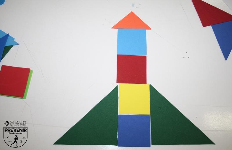 cohete tangram goma eva para niños