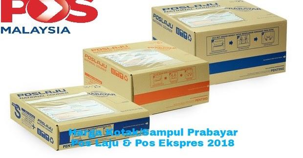 Senarai Harga Kotak Dan Sampul Prabayar Pos Laju Pos Ekspres 2021 My Panduan