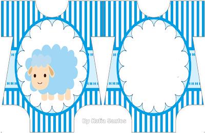 Invitación en Forma de Body de Bebé de Ovejita para Niño.
