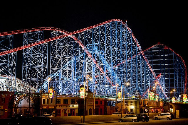 Parque Pleasure Beach em Blackpool | Inglaterra