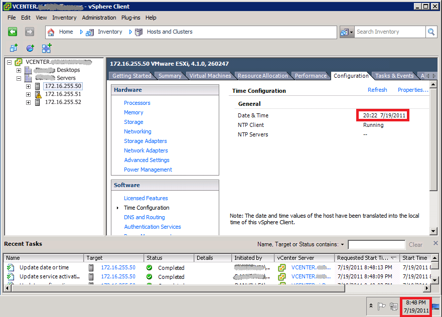 The EXPTA {blog}: Fixing Time Errors on VMware vSphere and