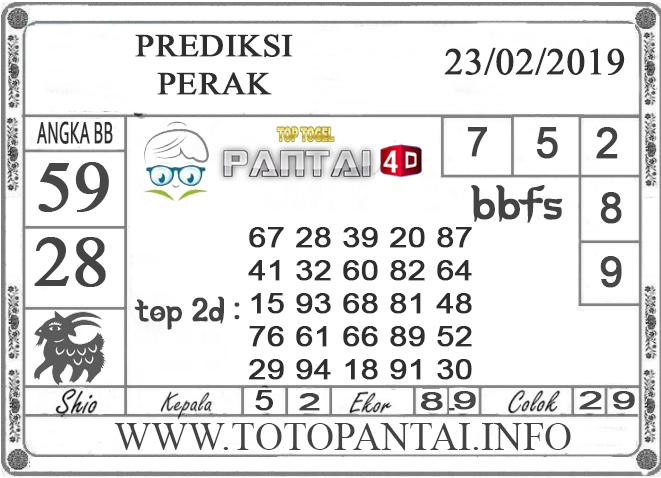"""Prediksi Togel """"PERAK"""" PANTAI4D 23 FEBRUARI 2019"""