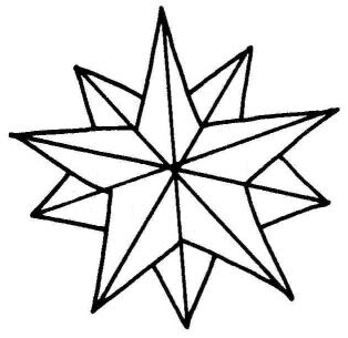 christmas star coloring pages printable | Christmas star clip art pictrures and drawing art images ...