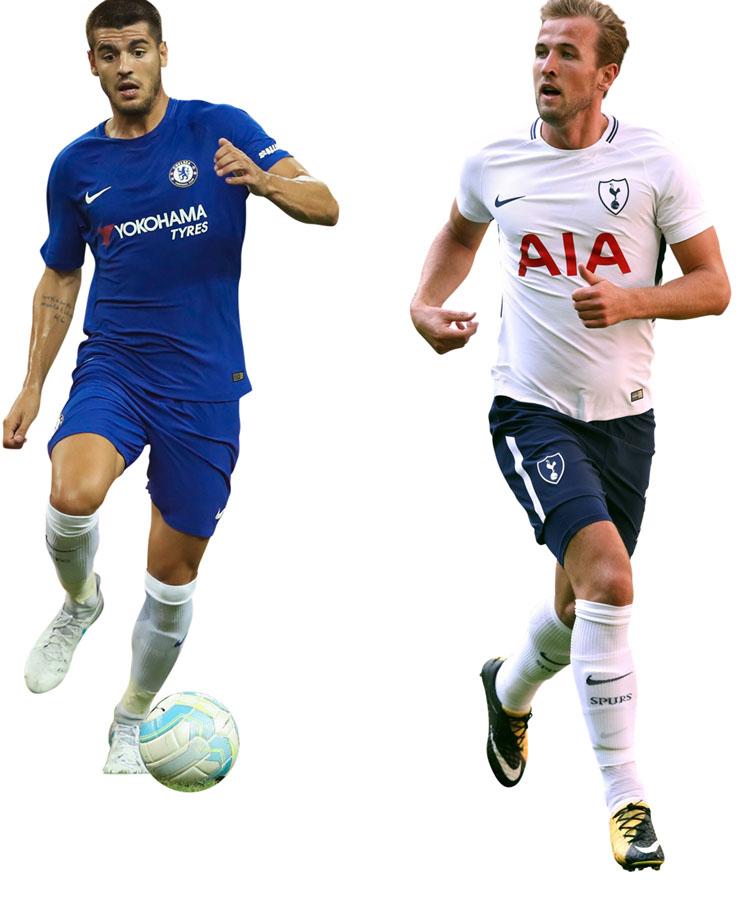 Alvaro Morata dan Harry Kane