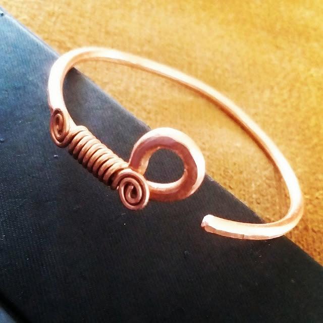 Copper Bracelets/Bangles, Copper Jewelry, Wire Wrapped Jewellery