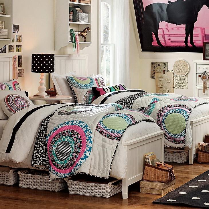 Dormitorios para hermanas adolescentes dormitorios con for Habitacion juvenil dos camas
