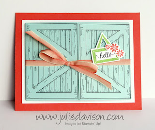 Stampin' Up! Barn Door Double Gate Fold Card ~ www.juliedavison.com