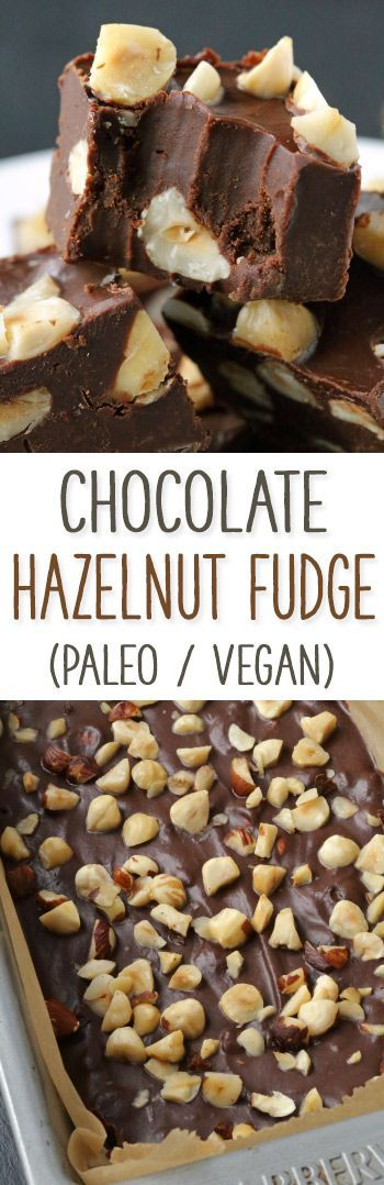 Chocolate Hazelnut Fudge (paleo, vegan)