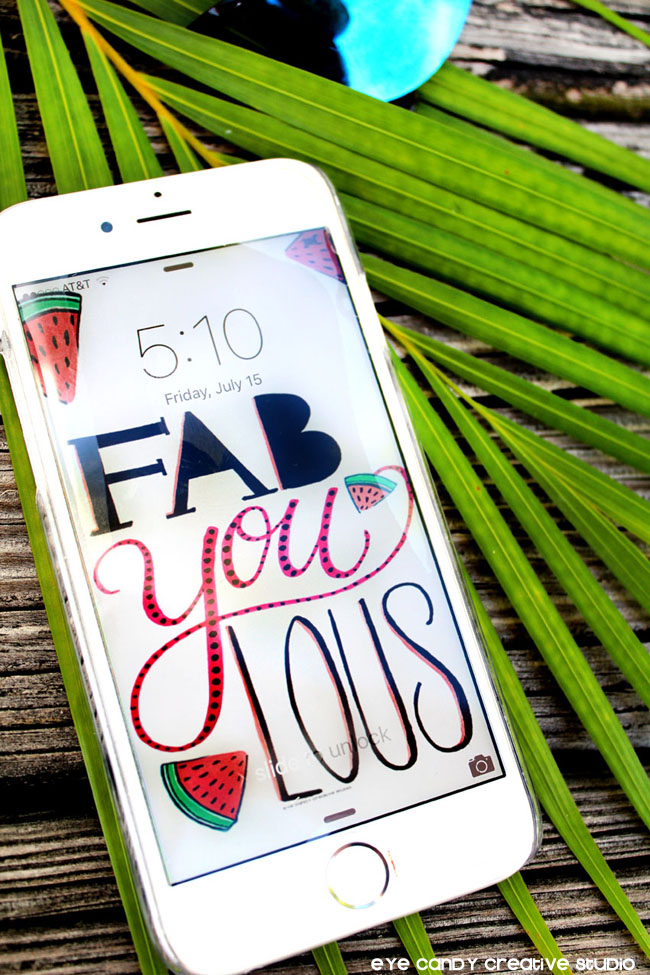 palms, fabYOUlous, watermelon, illustration, hand lettering, lettering