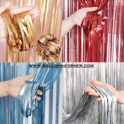 Foil Curtain / Tirai Foil Soft Colour (MURAH)