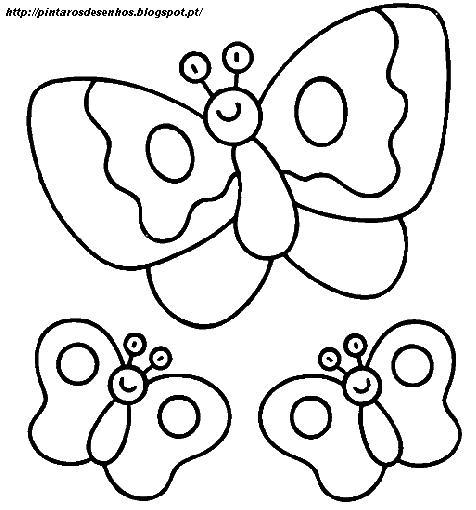 Desenhos Para Colorir Desenhar E Pintar Desenhos De Borboletas