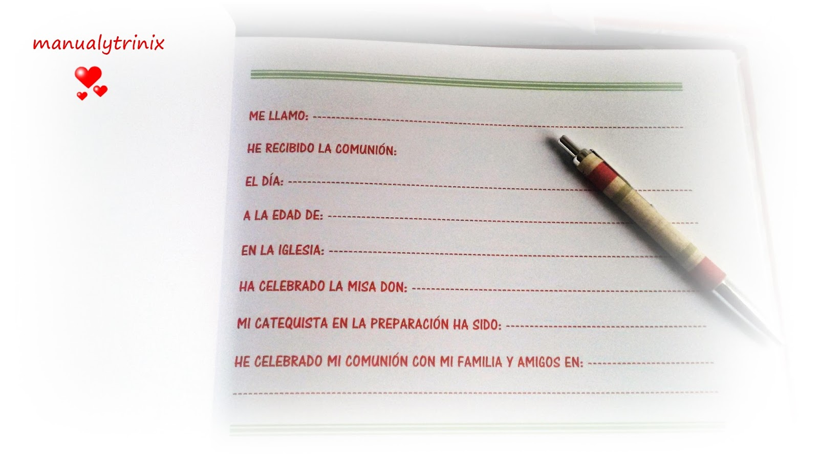 Manualidades manualytrinix libro de firmas comuni n for Interior libro de firmas comunion