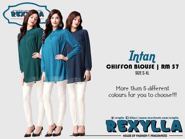 rexylla, chiffon blouse, intan collection