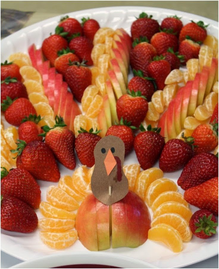 Turkey Shaped Fruit Platter