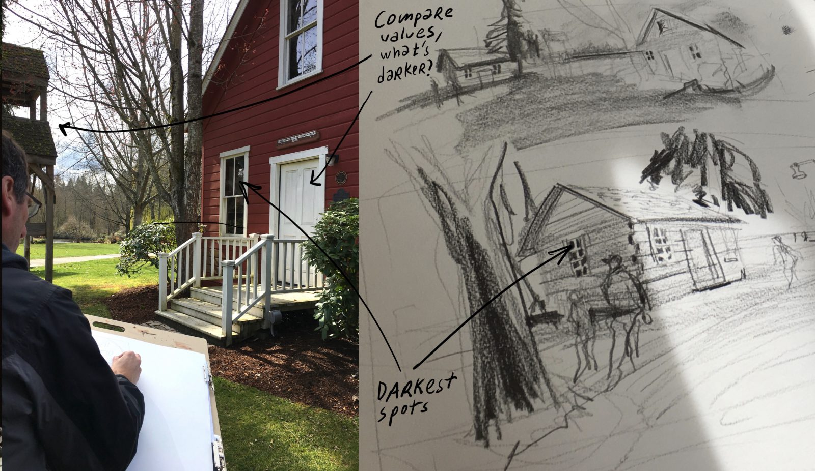 Workshop rewind: Sketching in northwest river town of Bothell