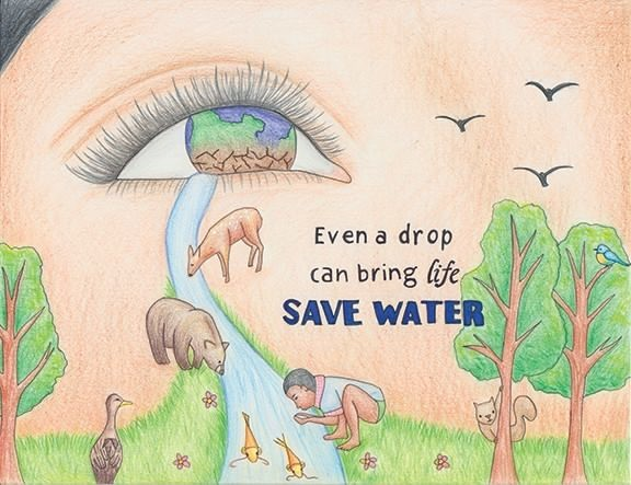 save water poster for