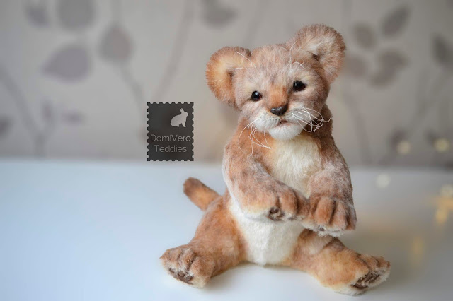 Soft Sculpture Toy Lion Cub