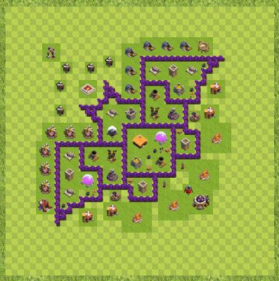 War Base Town Hall Level 7 By Jaren Chapman (Base Layout)