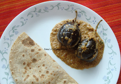 bharwa baingan or stuffed eggplants