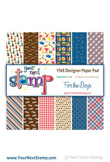 Designer Paper Pad - For The Boys