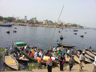 Ghat for small boats in Buriganga