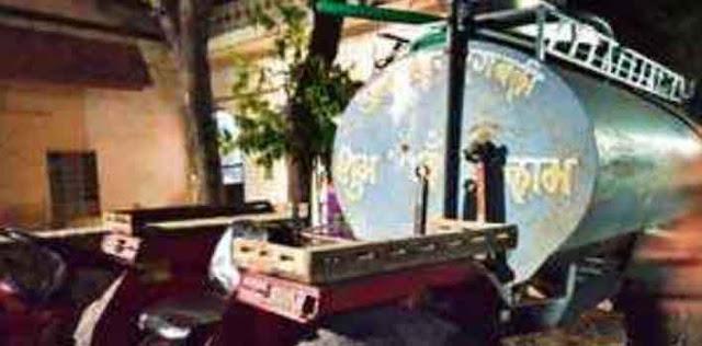 श्याम नगर जलदाय विभाग के सरकारी टैंक से पानी की चोरी