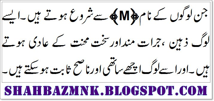 M Name Meaning In Urdu And Definition - ShahbazMnk- Daily