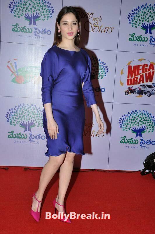 Tamanna Photo Gallery, Tamanna Bhatia Hot Pics in Blue Dress