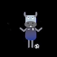Kouprey Cambodia with football jersey