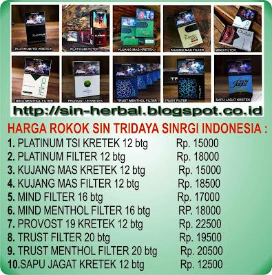 Rokok Herbal Sin Tridaya Sinergi Indonesia