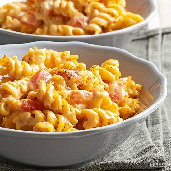 Easy Pumpkin-Roasted Red Pepper Mac and Cheese