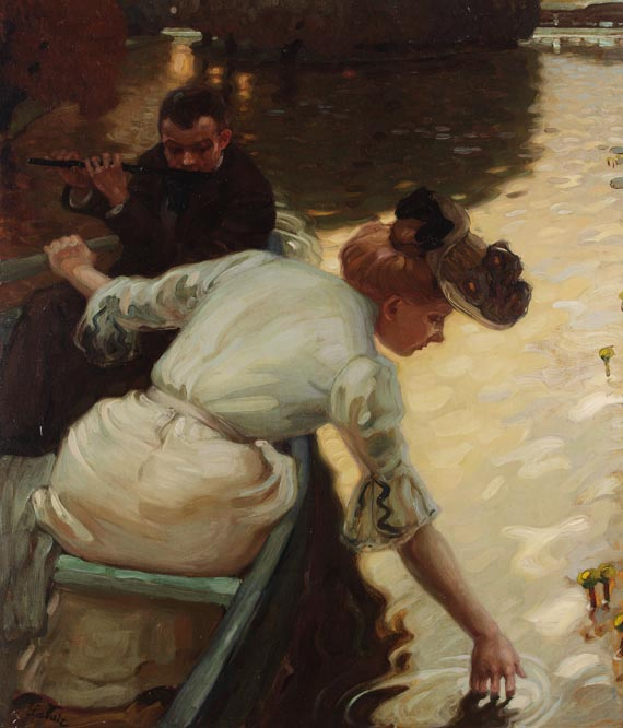 Leo Putz - A Tyrolean Painter (1869 - 1940) - Calm day 1901