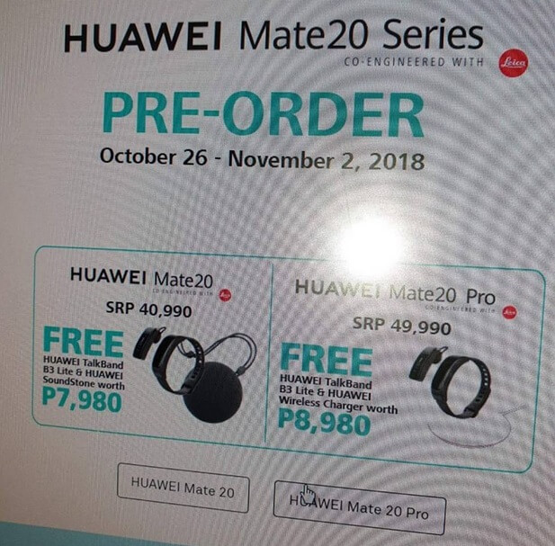 Huawei Mate 20 Series Prices and Pre-order Details