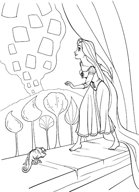 Download Free Rapunzel Coloring Page Images