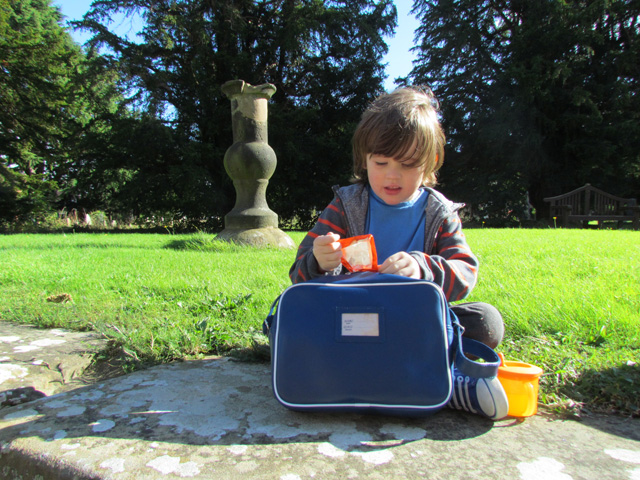 Autumn graveyard picnic