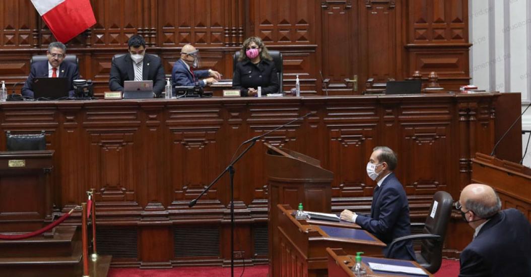 Congreso de la República otorga el voto de confianza al Gabinete Martos