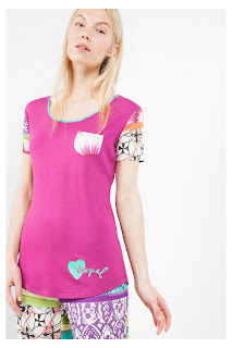 Plain Botanical Dream Desigual. Camiseta de Pijama