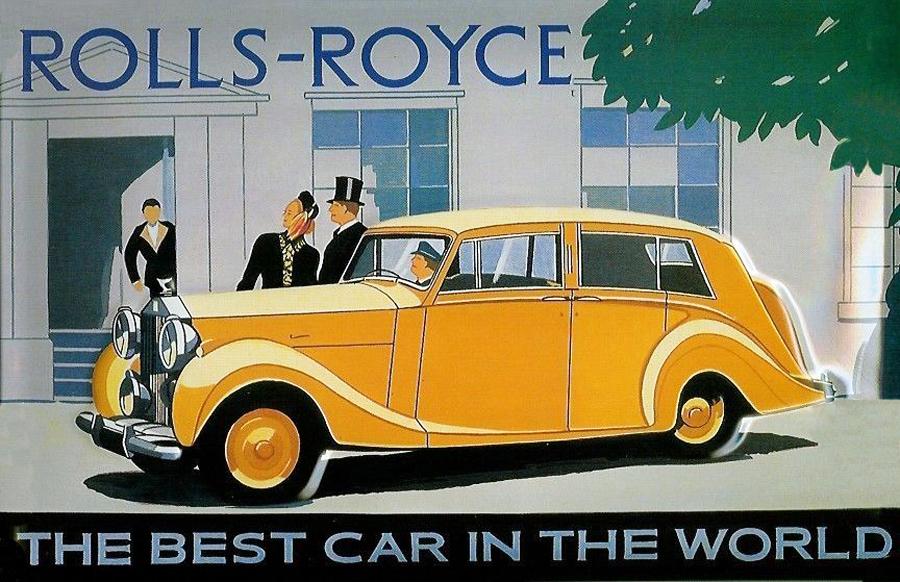 transpress nz rolls royce ad art late 1940s. Black Bedroom Furniture Sets. Home Design Ideas