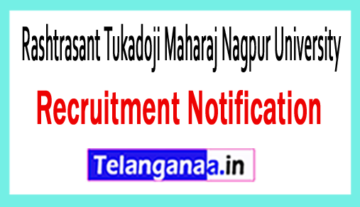 Rashtrasant Tukadoji Maharaj Nagpur University RTMNU Recruitment