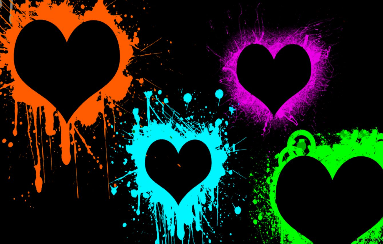 Neon Paint Splatter Desktop Backgrounds