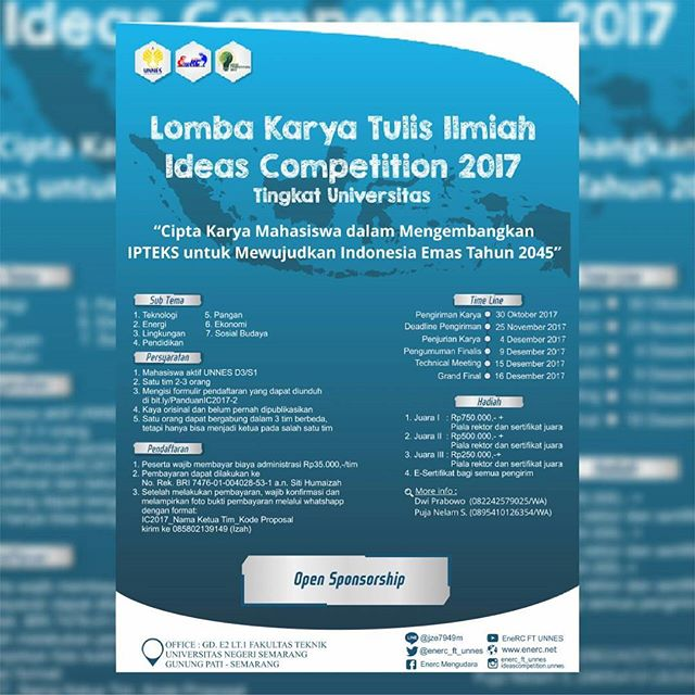 Lomba Karya Tulis Ilmiah IDeas Competition 2017 Untuk Mahasiswa
