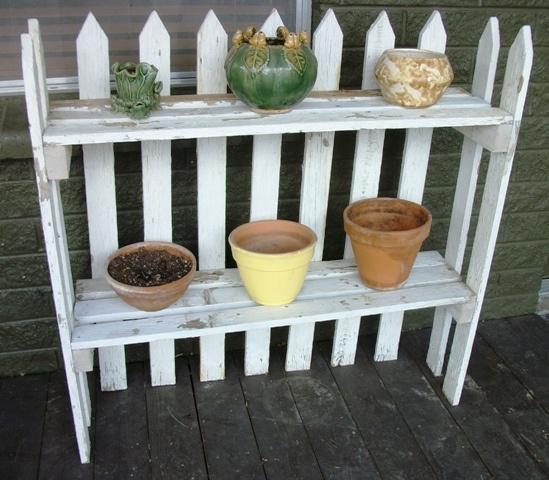 Garden Art From Junk Plant Stands