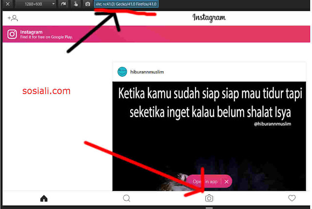 upload foto instagram online laptop pc