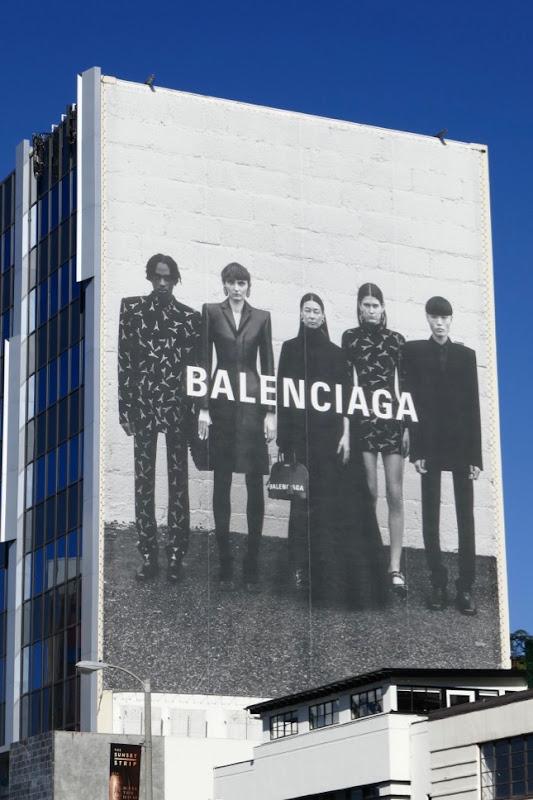 Giant Balenciaga S19 fashion billboard