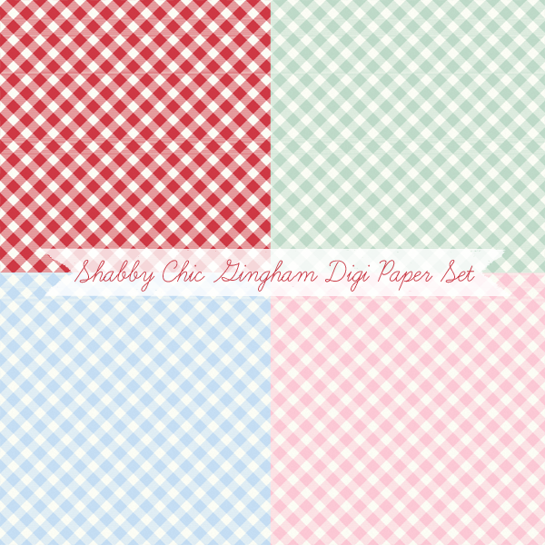 Free Gingham Digital Papers