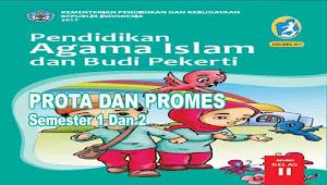 Prota dan Promes PAI dan BP Kelas 2 SD Kurikulum 2013 Revisi 2017