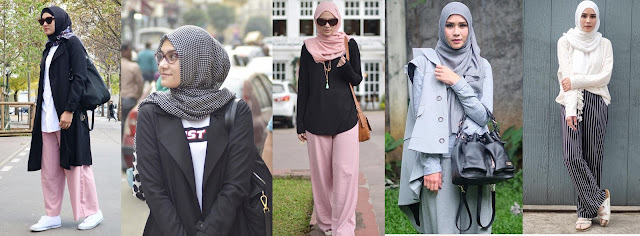 OOTD selebgram, zaskia mecca, zee zee shahab, hijaber stylish
