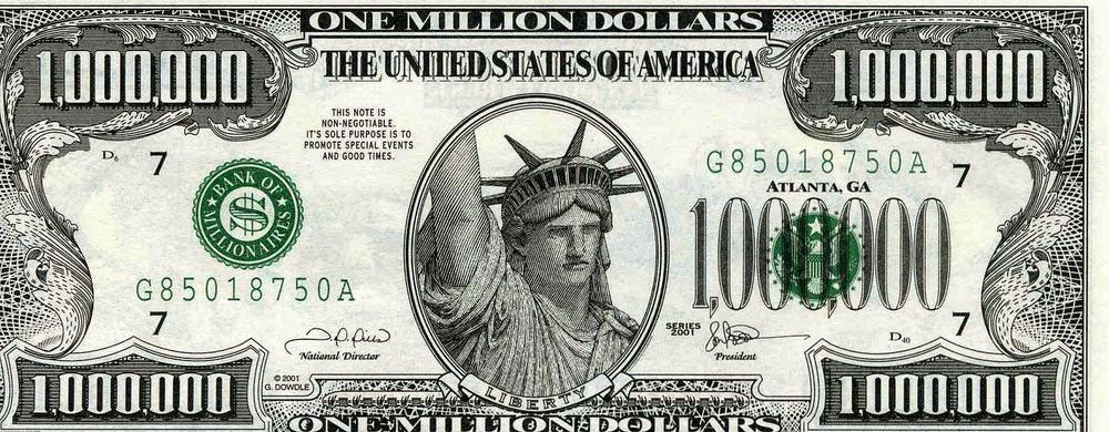 Image result for one million dollars