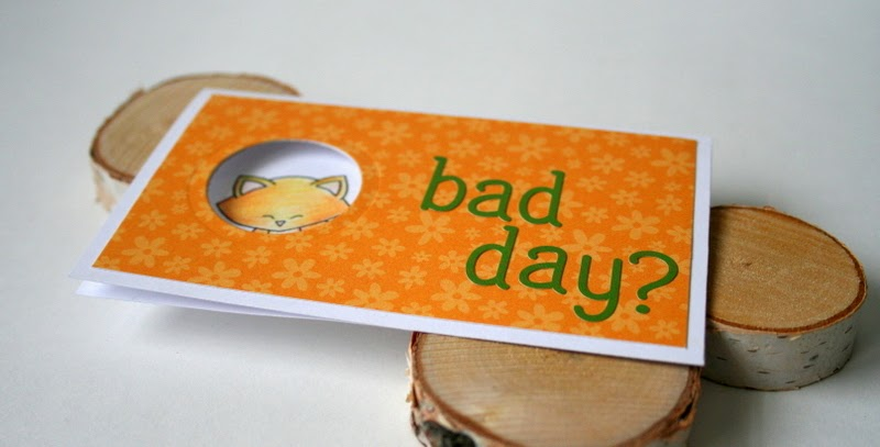 Bad Day Window Card by Jess Moyer featuring Newton's Nook Designs Naughty Newton