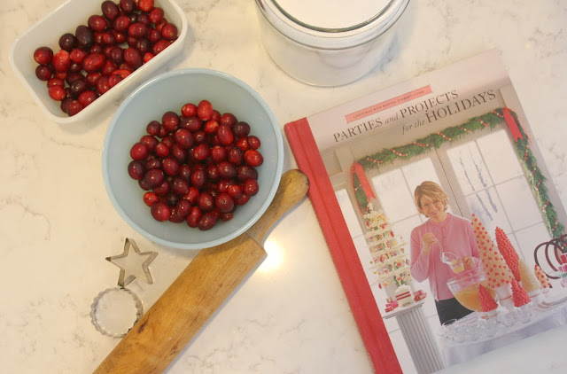 image result for cranberries vintage dishes martha stewart holiday baking rolling pin